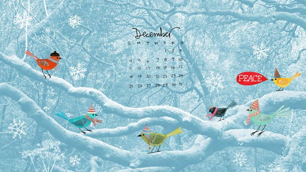 December Calendar, Gennine's Art Blog