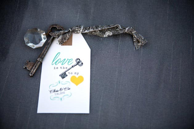 Escort Card Vintage Key Brightly Designed