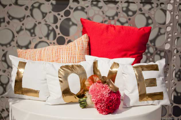 custom LOVE pillows