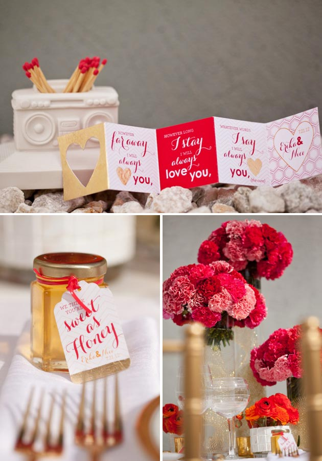 Honey tags, paper accordion quotes