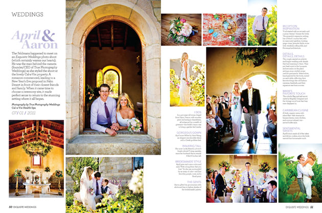 April Aaron Exquisite Weddings Magazine Feature